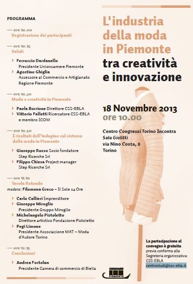 Convegno Moda Piemonte