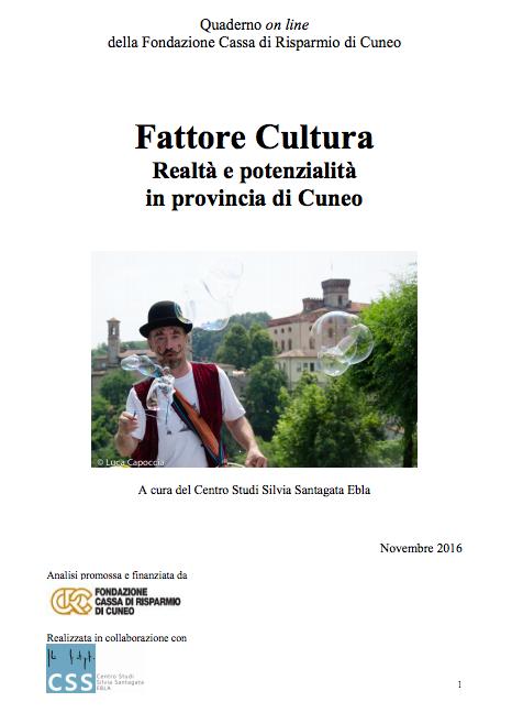Fattore Cultura Cuneo